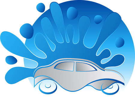 washing: Illustration art of a car washing icon with isolated background