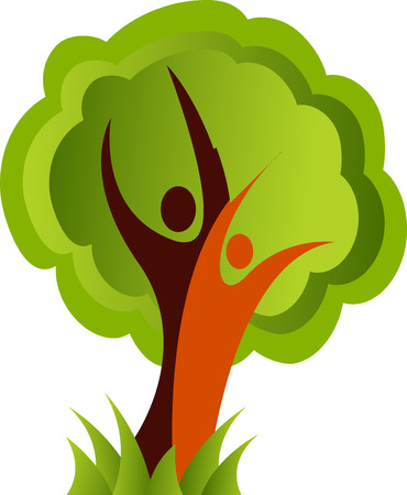 family tree: Illustration art of a family tree icon with isolated background