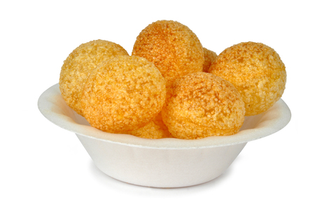 pani: camera shot on cup panipuri isolated background Stock Photo