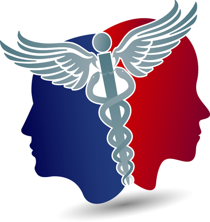 face treatment: Illustration art of a health care icon with isolated background