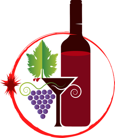 clip art wine: Illustration art of a wine icon with isolated background