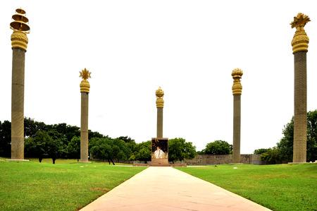 camera shot on rajiv gandhi memorial place with sriperumbudur