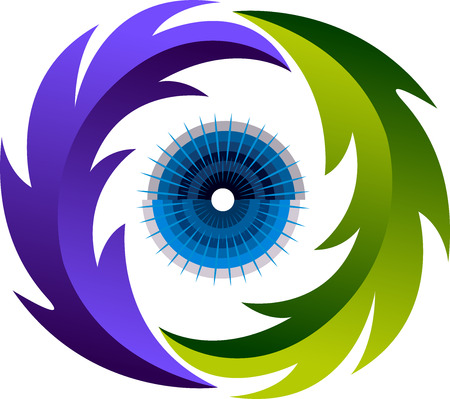 herbal medicine: Illustration art of a eye herbal medicine icon with isolated background Illustration