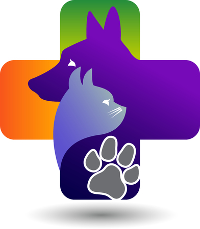 lovely couple: Illustration art of a pet care icon with isolated background Illustration