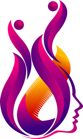 violate: Illustration art of a face flame icon with isolated background