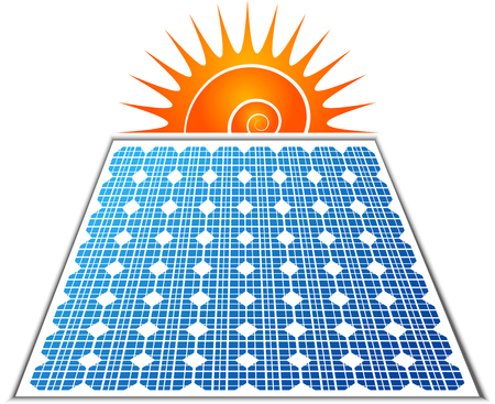 Illustration art of a solar panel icon with isolated background