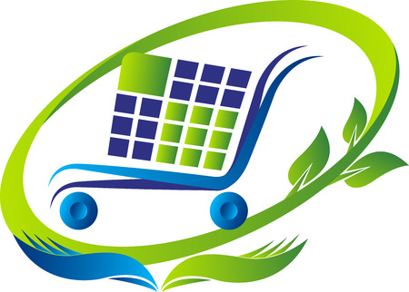 eco slogan: Illustration art of a purchase and save icon with isolated background