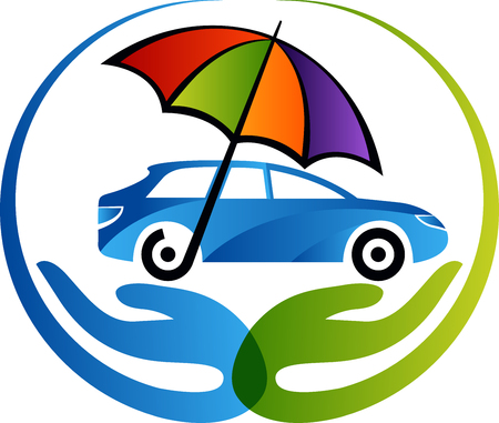 Illustration art of a car insurance icon with isolated background Illustration