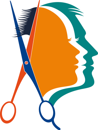 Illustration art of a beautician icon with isolated background Çizim