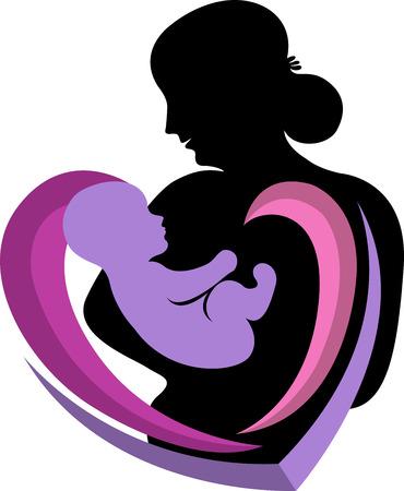 Ilustracja sztuki opieki dla niemowląt ikony z izolowanych tła