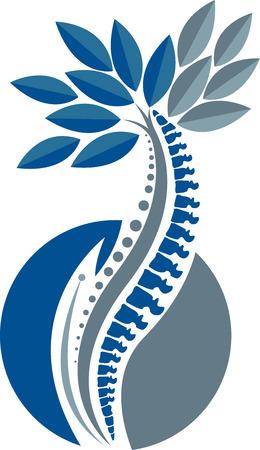 격리 된 배경 가진 나무 척추 아이콘의 그림 예술