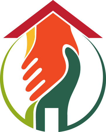 Illustration art of a home agreement icon with isolated background