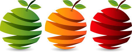 Illustration art of a cutting fruit icon with isolated background