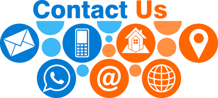 Illustration art of a contact us icon with isolated background