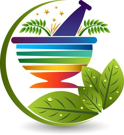 Illustrazione di un'icona di medicina Ayurveda con isolata