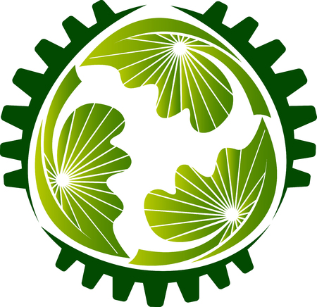 Eco gear icon.
