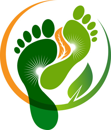 Illustration art of foot leaves icon isolated background