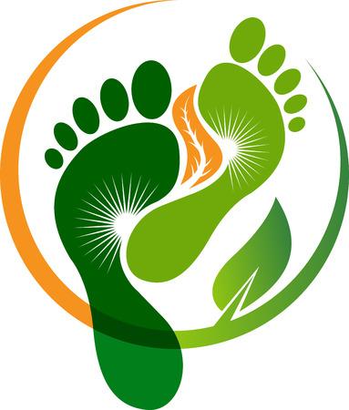 Illustrationskunst der Fuß verlässt Ikone lokalisierten Hintergrund
