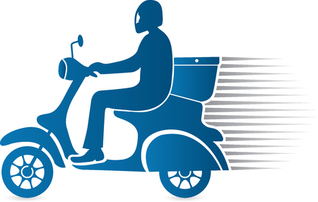 Illustration art of a fast delivery icon with isolated background Illustration