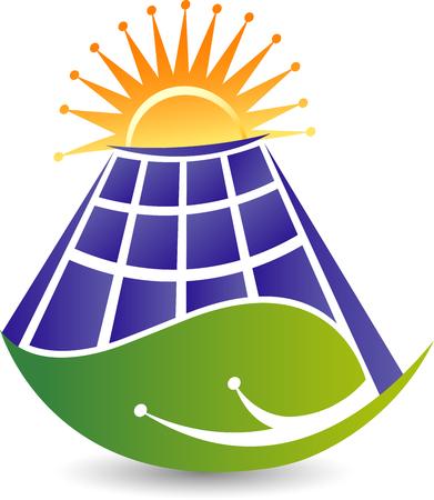 Illustration art of a renewable energy icon with isolated background Illustration