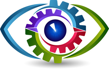 Illustration art of a eye gear icon with isolated background