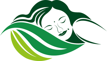 Illustration art of a Eco Sleep icon with isolated background