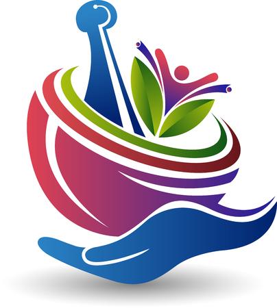 Art d'illustration d'une icône à base de plantes de soins avec fond isolé Vecteurs