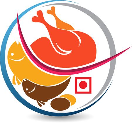 Illustrazione di un'icona non vegetariana con sfondo isolato