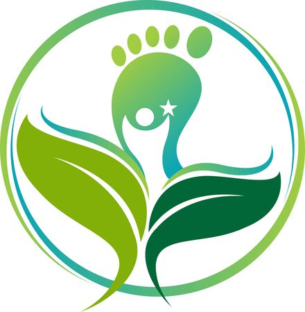 Illustration art of a Ayurveda footprint icon with isolated background Illustration