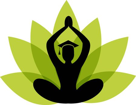 Illustration art of a education yoga icon with isolated background