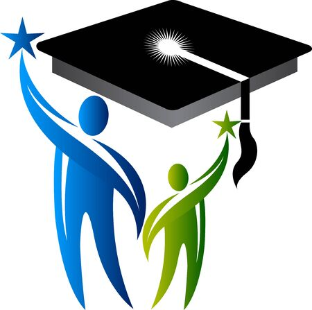 Illustration art of a education icon with isolated background Illusztráció
