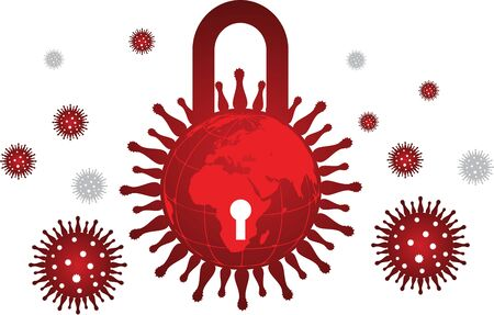 Illustration art of a covid19 virus icon with isolated background