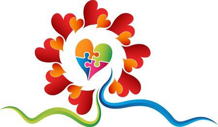 Illustration art of a stylish heart   with isolated background Illusztráció