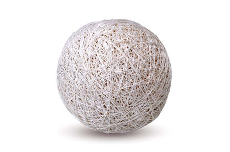 ball of thread on isolated background