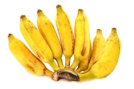 eight ripe banana on isolated background Stock fotó