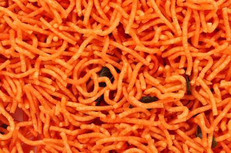 Indian Snack-Aloo sev on pill Stock fotó