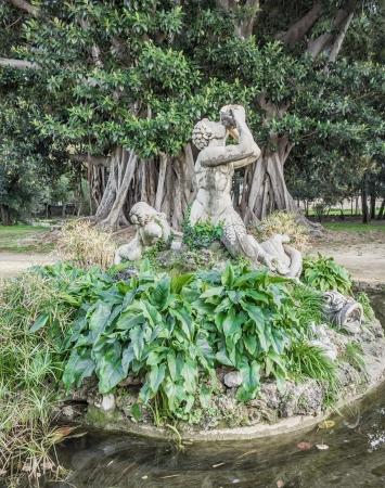 foglie: Tritone di Villa Trabia