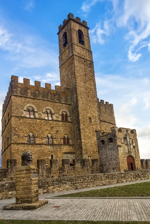 public domain: The castle, built in the medieval period, is located in the Italian town of Poppi Tuscany and is among the 10 most beautiful castles in Italy This castle is in the public domain and is not protected by copyright