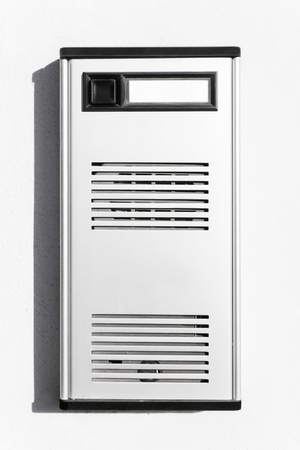 interphone: The interphone, very popular and important object that is outside each door