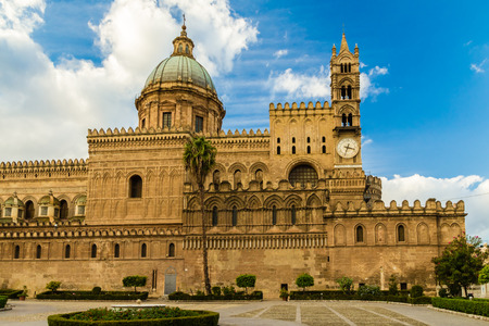 The Cathedral of Palermo is an architectural in Palermo, Sicily ( Italy). It is characterized by the presence of different styles. Stock Photo