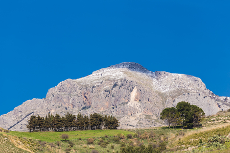 The typical and magnificent landscape of the hinterland of Sicily