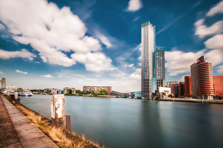 A view of the city of Rotterdam, the beautiful and typical Dutch city.