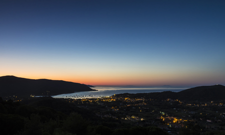 The dawn on the Elba island (Tuscany, Italy) Stock Photo