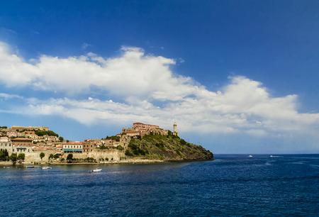 elba: The entry of Portoferraio, the main port of the Elba island  (Tuscany, Italy) Stock Photo