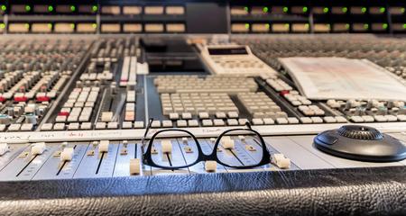 Break in studio recording.