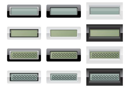 液晶計算機が表示されます。  イラスト・ベクター素材