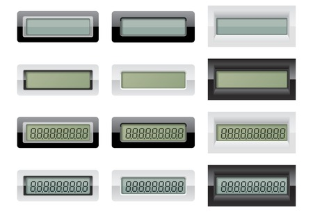 lcd: LCD Calculator Displays Illustration