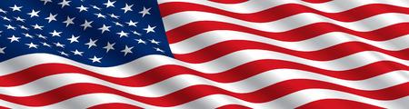 American Flag Flowing 일러스트