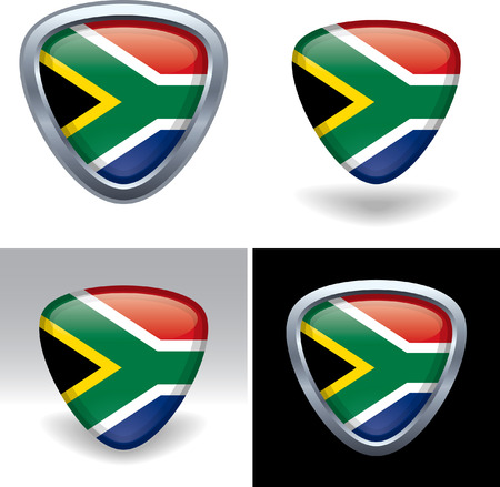 South African Flag Crest Vector