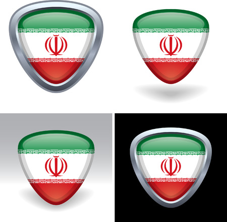 Iranian Flag Crest Ilustração